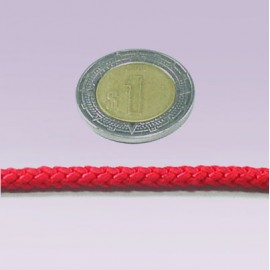 Cordon 6 mm liso rojo