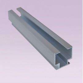 Riel Cancun aluminio anodizado natural