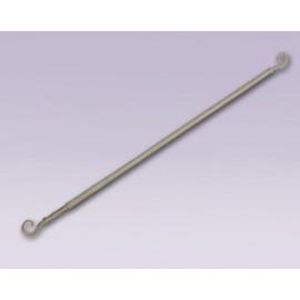 Cortinero de espiral ajustable con tubo de 10 mm
