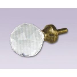Cortinero ajustable bola de diamante con tubo de 20.7 mm