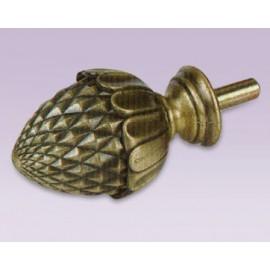 Cortinero ajustable de avellana tipo forja con tubo de 20.7 mm