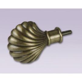 Cortinero ajustable de concha tipo forja con tubo de 20.7 mm