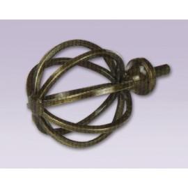 Cortinero ajustable de esfera tipo forja con tubo de 20.7 mm