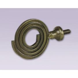 Cortinero ajustable de espiral tipo forja con tubo de 20.7 mm