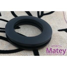 OJILLO PLASTICO GRANDE NEGRO MATE, INTERIOR 45 MM EXTERIOR 73 MM MARCA DM.