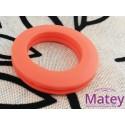 OJILLO PLASTICO GRANDE NARANJA MATE, INTERIOR 45 MM EXTERIOR 73 MM MARCA DM.