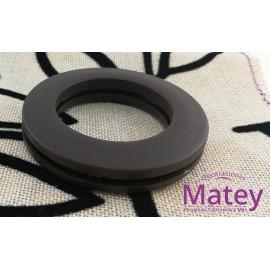 OJILLO PLASTICO GRANDE CAFE MATE, INTERIOR 45 MM EXTERIOR 73 MM MARCA DM.