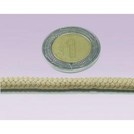 Cordon 6 mm beige liso