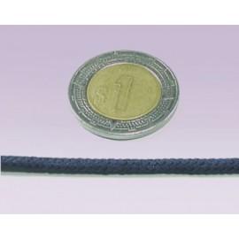 Cordon 6 mm liso azul marino