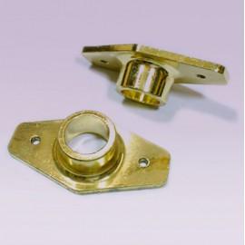 Brida dorada para tubo de 25 mm rombo grande
