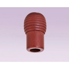 Perilla tipo barril de madera caoba