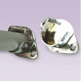Brida para tubo de 25 mm cromada tipo rombo media luna