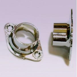 Brida para tubo de 25mm cromada cerrada