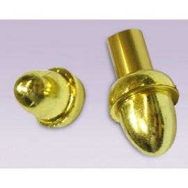 Tapon de bellota plastico dorado para tubo de 13mm