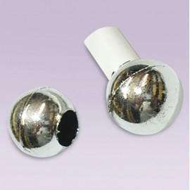 Tapon de esfera plastico cromado para tubo de 13 mm