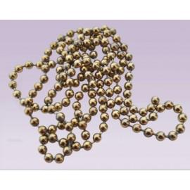 Cadena de bola metalica No.10 dorado