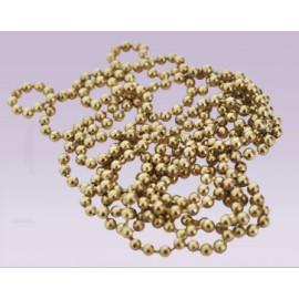 Cadena de bola metalica No.3 dorado