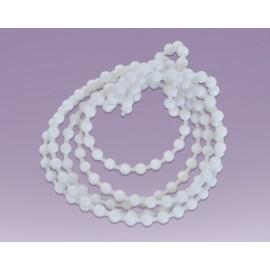 Cadena de bola plastica No.10 blanco