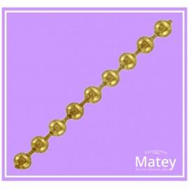 Cadena de bola metalica No.13 dorado