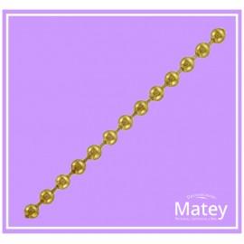 Cadena de bola metalica No.6 dorado