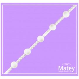 Cadena de bola plástica separada No.10 blanco