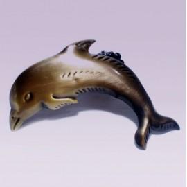 Clip sujetador para cortina tipo delfín oro viejo
