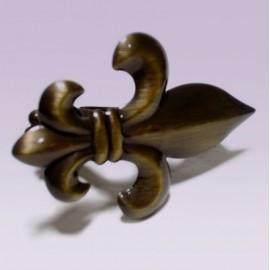 Clip sujetador para cortina tipo flor de lis oro viejo