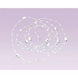 Cadena plastica con clip para pesa plástica blanco