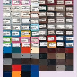 Muestrario de colores para cortinero puntas finales, chapetones