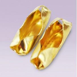 Conector metalico No.13 dorado