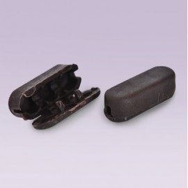 Conector plastico No.10 chocolate