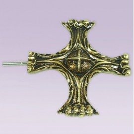 Punta de cruz en bronce