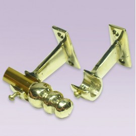 Soporte abierto en bronce para tubo de 13 mm