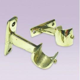 Soporte abierto en bronce para tubo de 19 mm
