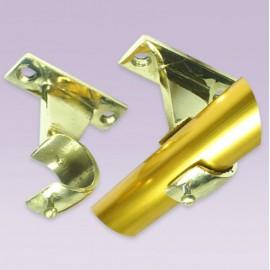 Soporte abierto en bronce para tubo de 25 mm
