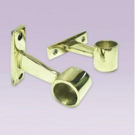 Soporte cerrado en bronce para tubo de 19 mm
