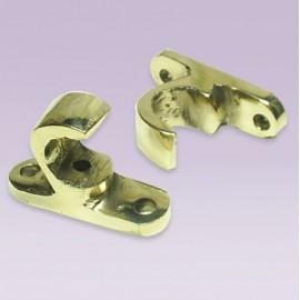 Soporte de ganchito en bronce para tubo de 13 mm