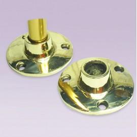 Brida redonda tres pijas en bronce para tubo de 13 mm